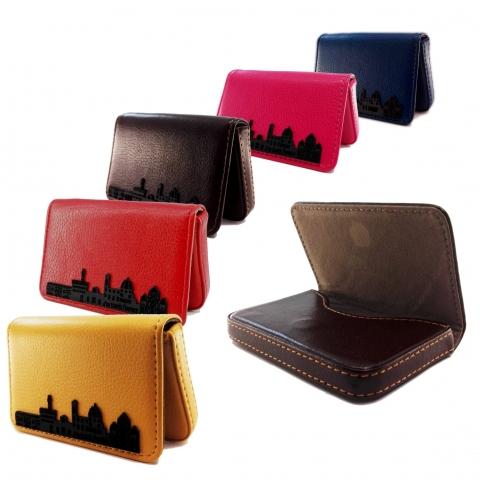 "card holder eco-leather MyTravels, ""Florence skyline"" decoration"