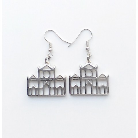 """Florence, pair earrings """"Santa Croce"""", galvanized/drilled"""
