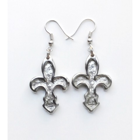 """Florence, pair earrings """"Lily"""", galvanized"""