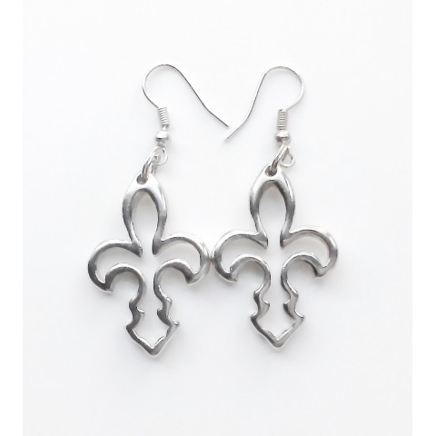 """Florence, pair earrings """"Lily"""", galvanized/drilled"""