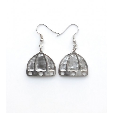 """Florence, pair earrings """"Dome"""", galvanized"""