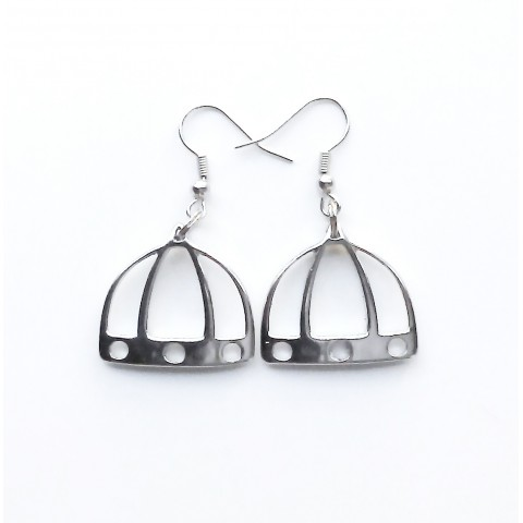 """Florence, pair earrings """"Dome"""", galvanized drilled"""